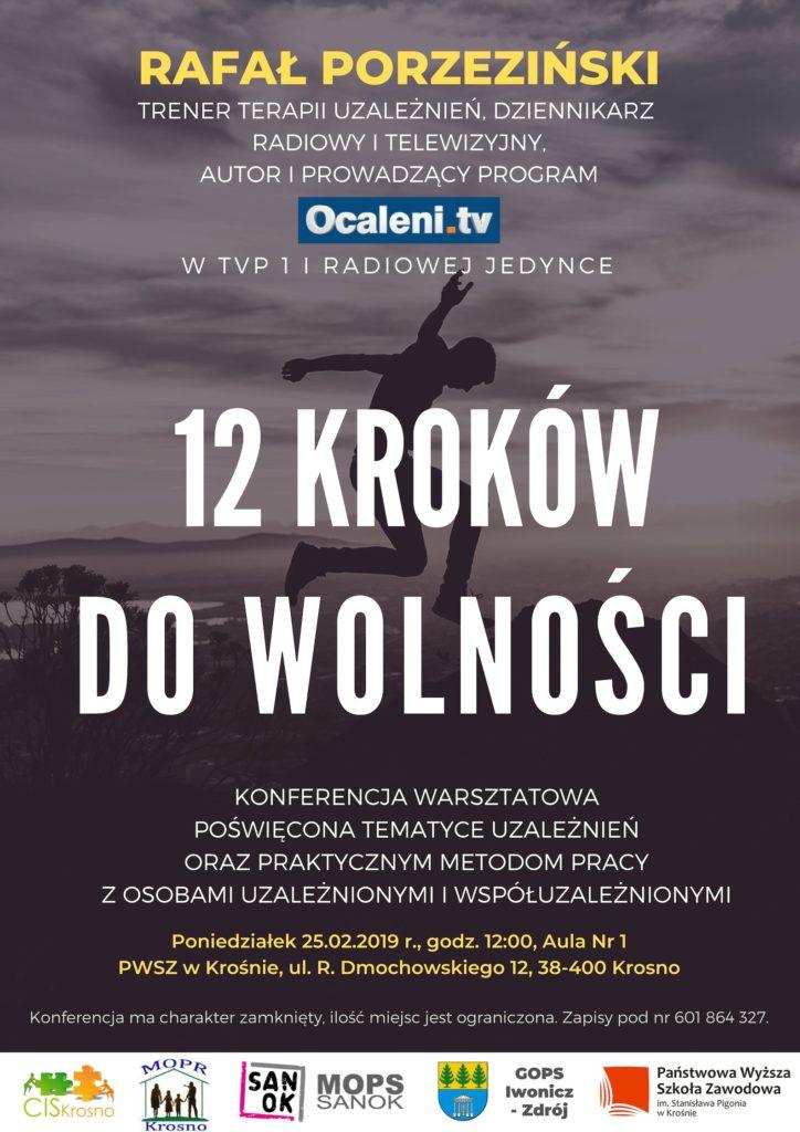 Zaproszenie na konferencje warsztatową poświęcona tematyce uzależnień Krosno 25.02.2019r.
